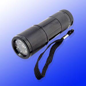 9-LED-Metal-Flashlight-Handy-Torch-Camping-Light-
