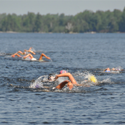 Open water swimming girls competitive swimming camp Ontario