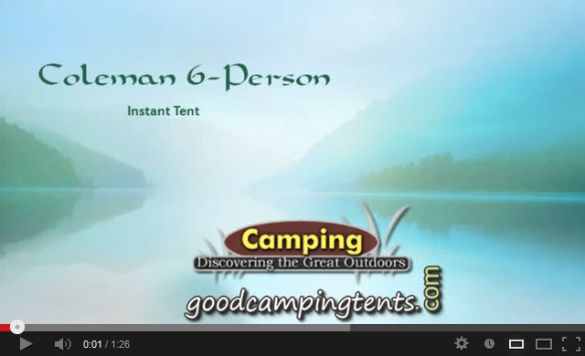Coleman 6 person Instant Tent Video Review