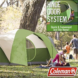 Coleman Montana 8 person/1 room tent , 16 x 7-Feet footprint, 74-Inch center height,11-millimeter fiberglass poles