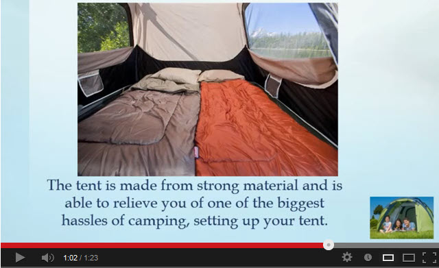 Coleman 4 Persons Camping Tent Video Review