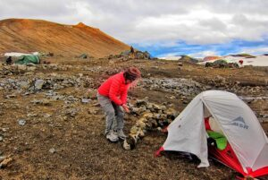 Mountain tent on Iceland ~ Landmannalaugar Route