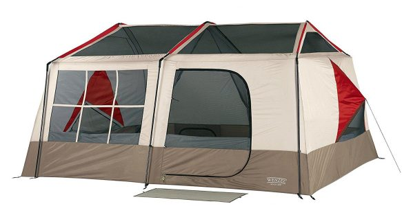 Large, 2-room family cabin tent