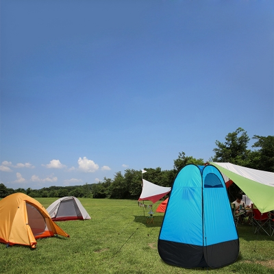 outdoor camping shower and toilet tent